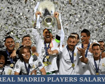 Real Madrid Players Weekly Salary 2017/18