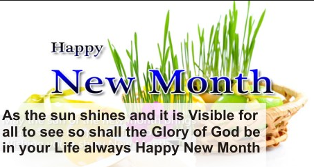 Best Happy New Month Prayer Celebration Messages
