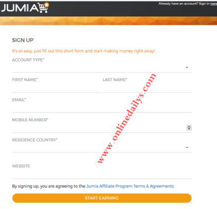 How To Become Jumia Affiliate Marketer For Free| Jumia Affiliate Sign Up