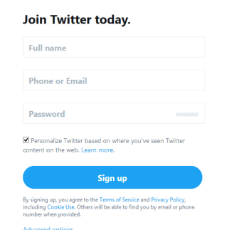Twitter New Account Registration | Sign Up Twitter - twitter.com