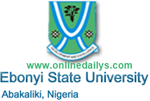 EBSU Pre-Degree Form 2018/2019 Is Out – Apply Here