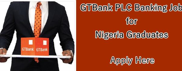 GTBank job application form