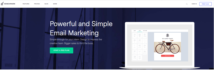 BenchMarkEmail Page - Free Email Marketing and Automation Websites