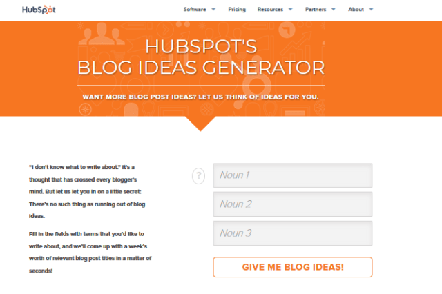 HubSpot page