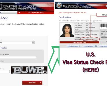 USA Check Visa Application Status