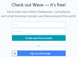 Wave Accounting Software Sign Up