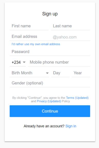 Yahoo ng form 1