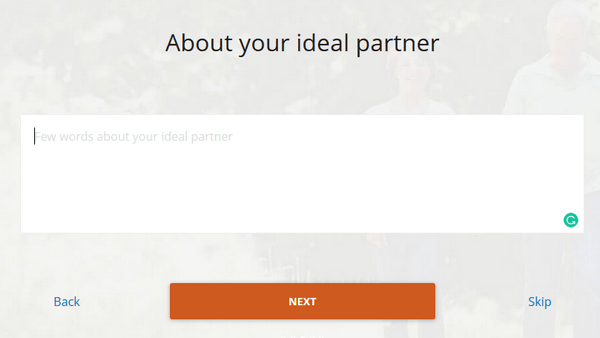 dating site form 3