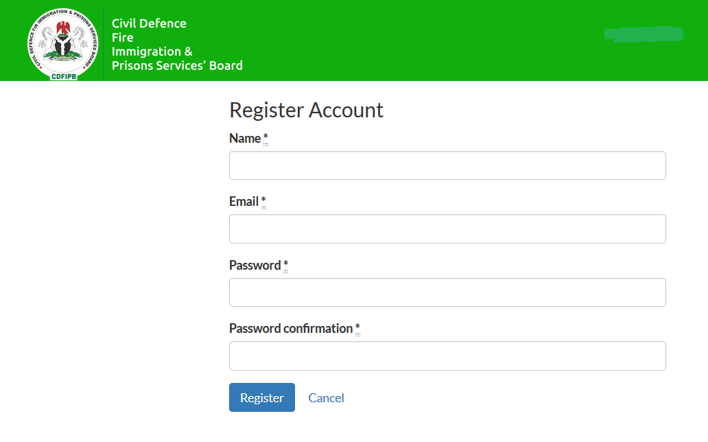 cdfipb.careers registration page