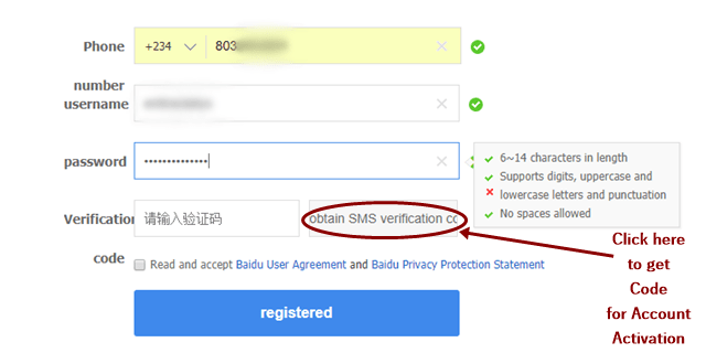 Baidu Account Sign Up Without Chinese Phone Number 1