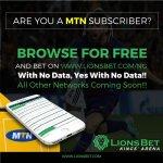 LionsBet New Account Registration – Fund LionsBet Nigeria