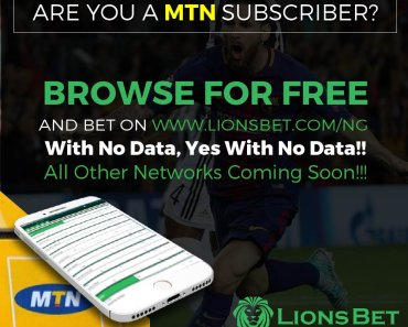 LionsBet New Account Registration - Fund LionsBet Nigeria