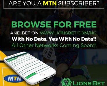 LionsBet New Account Registration - Fund LionsBet Nigeria