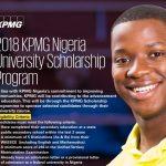 KPMG Nigeria University Scholarship Program 2018 for Secondary School Leavers