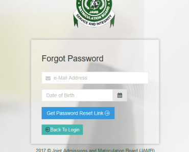 Image, Jamb login forget password