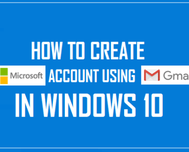 Create Microsoft Account Using Gmail