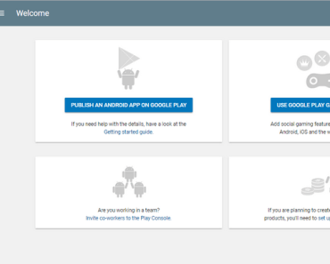 Image of Google Play Developer Account Dashboard