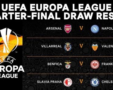 Europa League Quarterfinal Draw 2019