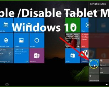 Enable Windows 10 Tablet Mode