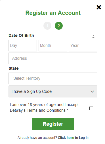 Betway online registration form 32 image