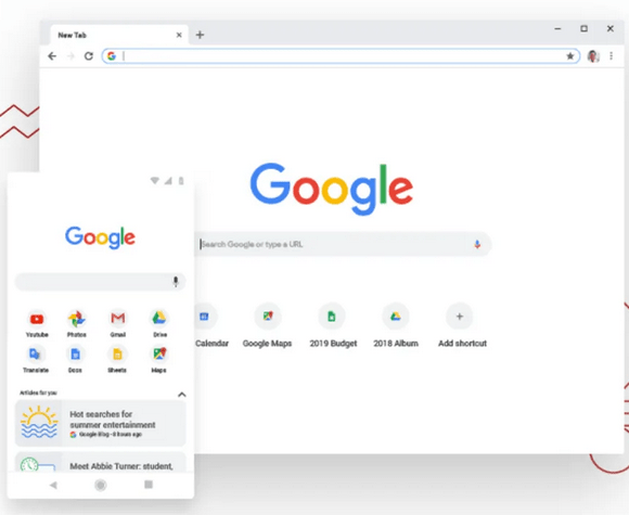 Google Chrome browser image