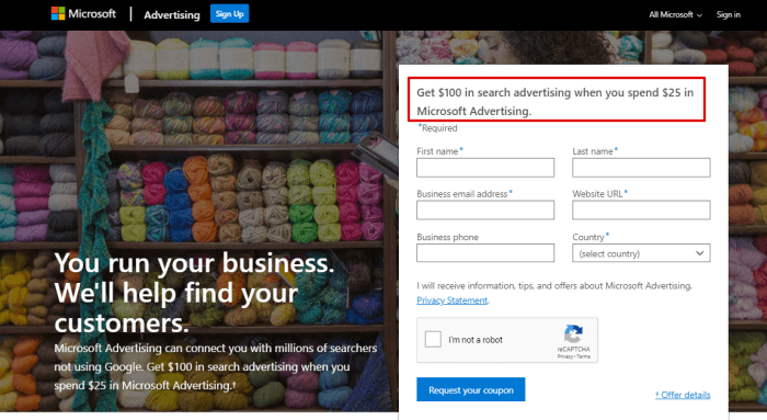 How to Start Your Bing MicroSoft Advertising with free $100 - to Run Campaign 1
