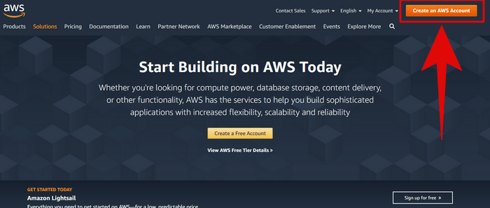 Amazon AWS cloud hosting image