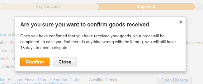 steps on how to confirm your order on aliexpress