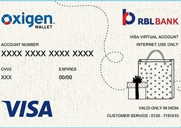 Oxigen visa card image 3