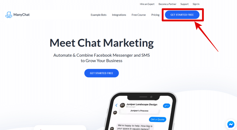 manychat login page image