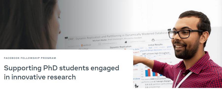 Facebook Fellowship Program for PhD Students Application Form