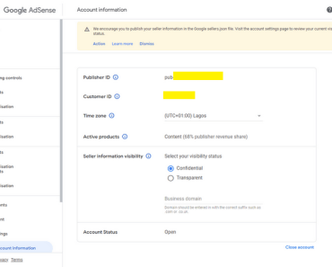 We encourage you to publish your seller information in the Google sellers.json file