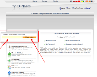 YopMail Disposable Email Address