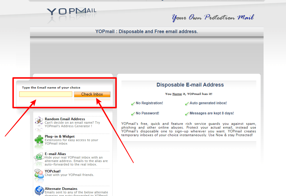 How to Create YOPMail Disposable Email Address | www.YopMail.com Login Page