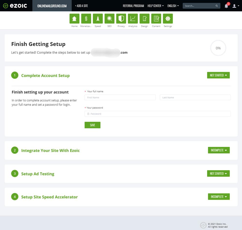 Complete Ezoic Setup Account: Using Ezoic Ad To Increase AdSense Earnings 4