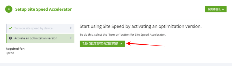ezoic turn on site speed image