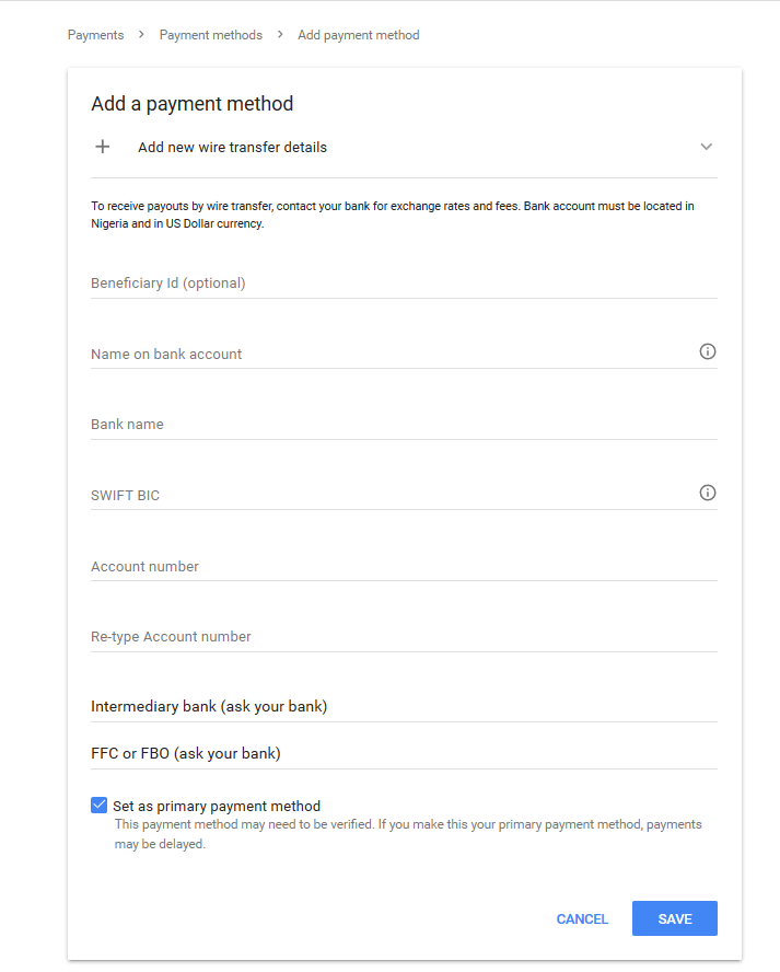 Google AdSense Payment Settings   Receive AdSense Earnings into Your Bank Account 1