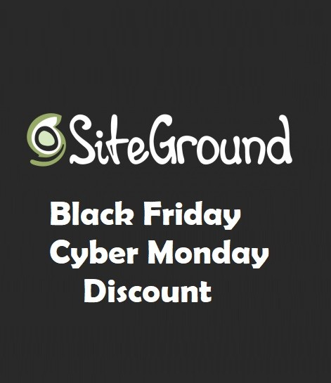 SiteGround Black Friday Cyber Monday Discount Deals