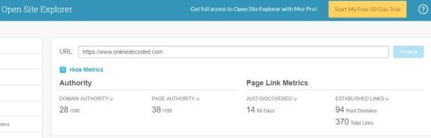 Moz Open Site Explorer - Free backlinks checker Tool