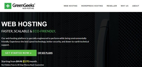 GreenGeeks- Best WordPress hosting providers