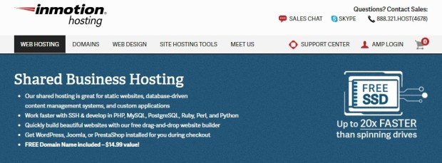 Inmotion Hosting - Best WordPress hosting providers