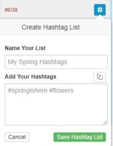 create hashtag lists
