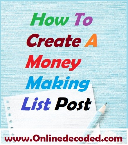 7 Easy Tips To Create A Money Making List Post