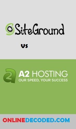 Siteground vs A2 Hosting Comparison