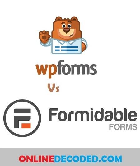 WPForms vs Formidable Forms Comparison