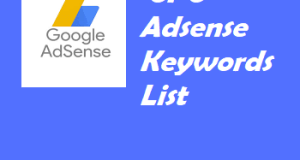 High CPC Adsense Keywords List