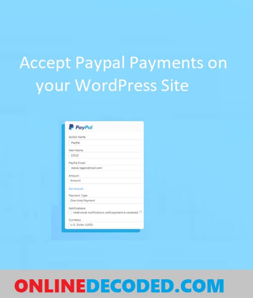 Collect Paypal payments from your wordpress site - Pinterest Image