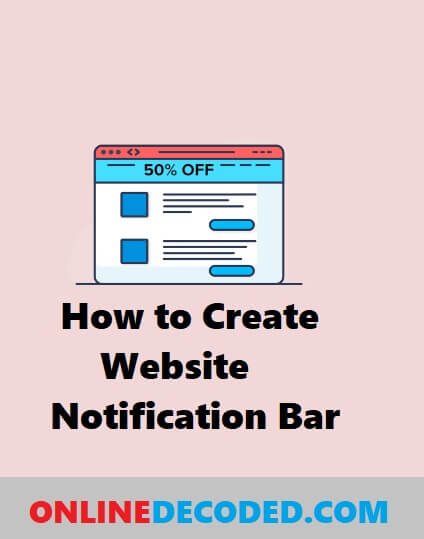 How to Create a Website Notification Bar Easily With WordPress in 2020