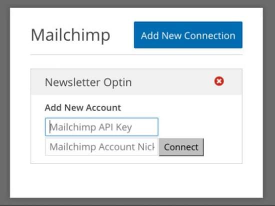Add Mailchimp API Key