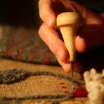 Rug Hooking on Burlap